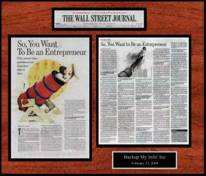 newspaper-article-wall-plaque-wall-street-journal