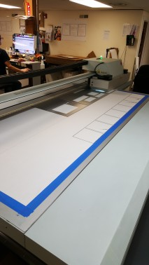 Early stages of printing
