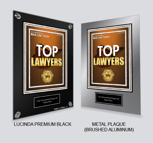 Top Lawyers 2015 - Published by Main Line Today